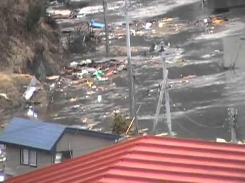 Tsunami in Kuki, near Kuji, Iwate Prefecture