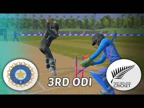 INDIA V NEW ZEALAND 2020 GAMING SERIES - 3RD ODI - ASHES CRICKET 19