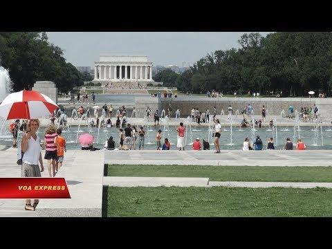 Nắng nóng kỷ lục tại Washington DC (VOA)