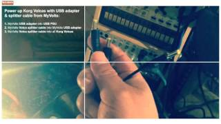 KORG VOLCA tip: POWER all Volcas with MyVolts USB-adapter &volca splitter cable