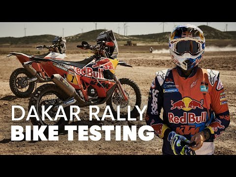 Testing the Dakar Bikes | Up Front With the KTM Rally Team Part 2