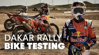 Testing the Dakar Bikes   Up Front With the KTM Rally Team Part 2