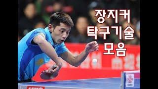 중국 국대 장지커 선수 각종 탁구기술 모음