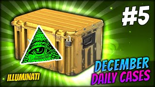 THE REAL ILLUMINATI CASE ★ DECEMBER DAILY CASES DAY 5 - CS:GO CASE OPENING / UNBOXING