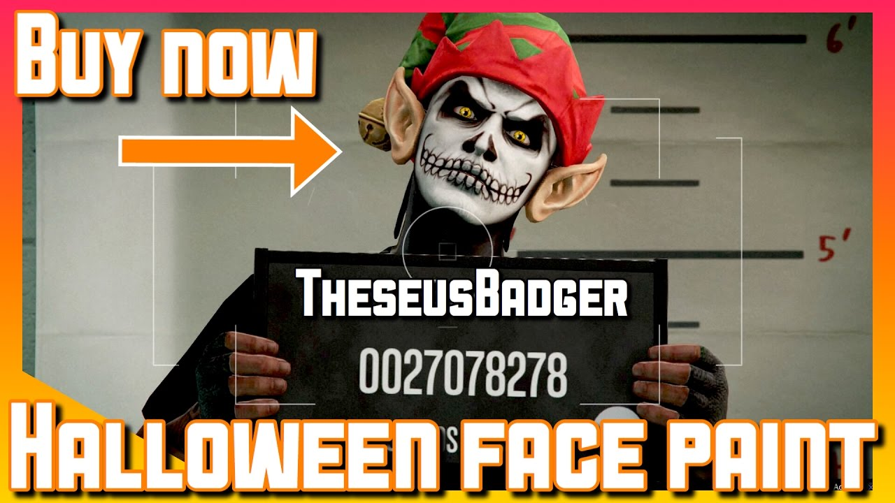 How To Buy Halloween Face Paint Gta 5 Online Youtube
