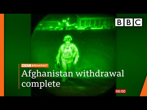 Afghanistan: Last US military flight departs ending America's longest war @BBC News live 🔴 BBC