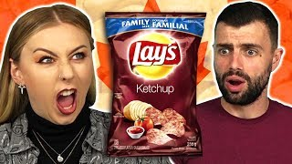Irish People Try REAL Canadian Chips