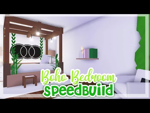 Boho Style Bedroom Speedbuild Boho Bedroom Decor Adopt Me Roblox Youtube