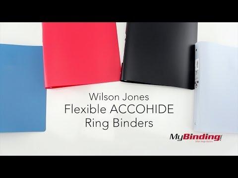 Wilson Jones Flexible ACCOHIDE Ring Binders