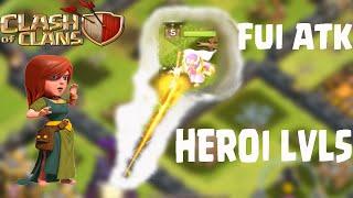 Fui atk pelo novo heroi lvl 5 em Clash of Clans