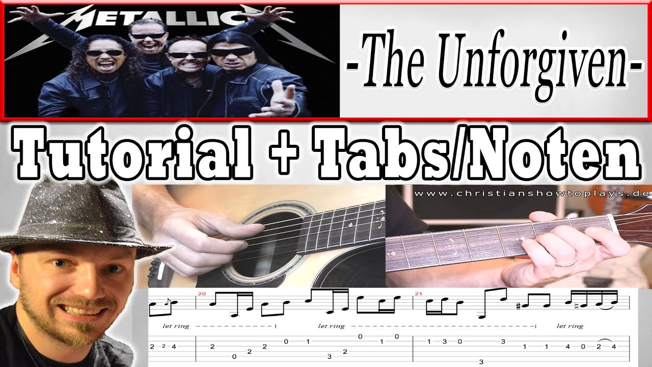 Metallica The Unforgiven Akustik Guitar Lesson Schnes Anfnger