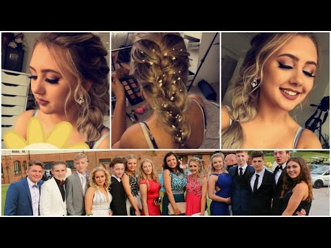 PROM VLOG 2016 | Hair, Makeup & Dress | Jasmine Clough