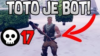 I PLAY AGAINST BOTS!! | 17 KILLS HRA-FORTNITE CZ/SK
