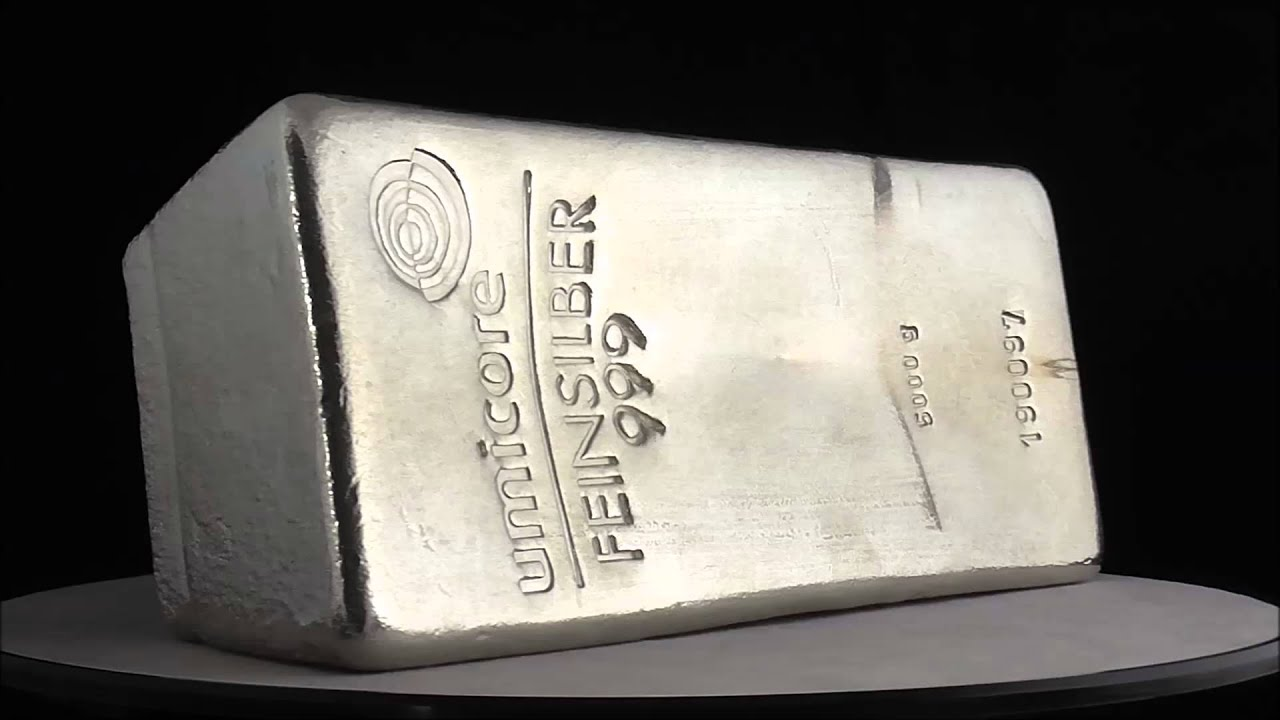 Umicore 5000 Gram Silver Bar 999 0 Youtube
