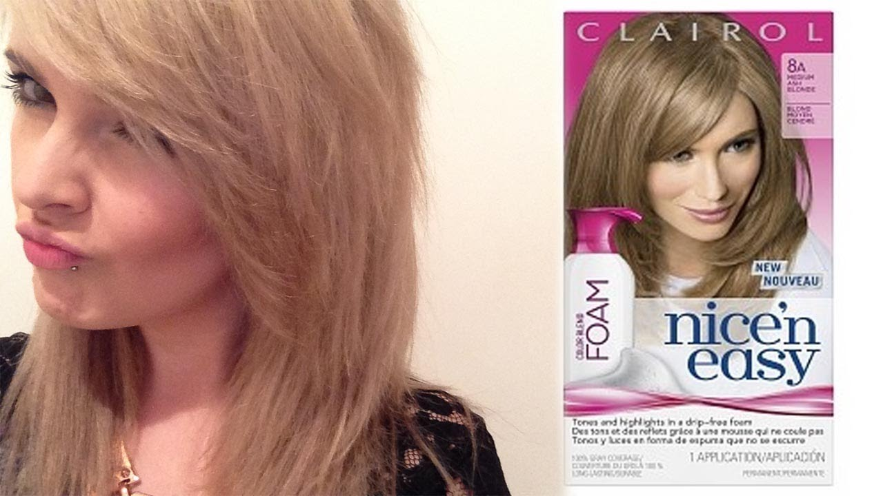 Clairol nice n easy foam hair dye review and step by step youtube