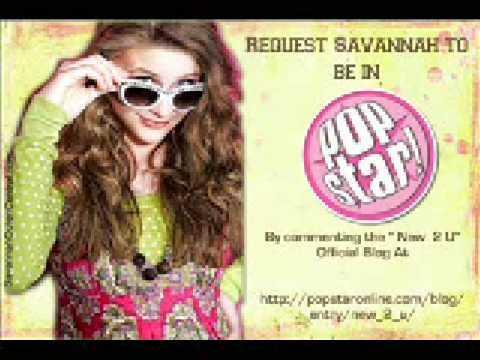 Get Savannah in Popstar! Magazine