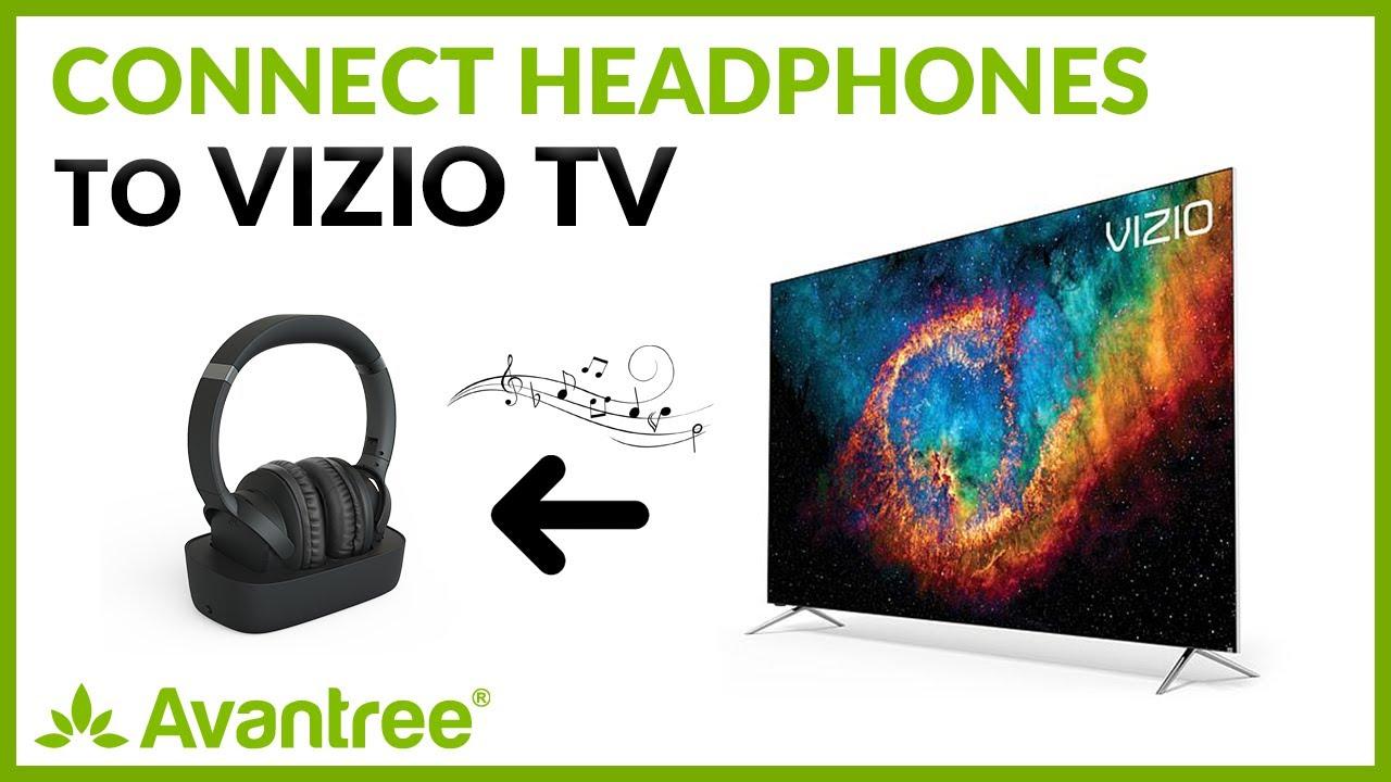 Bluetooth Headphones For Vizio Tv How To Connect Headphones To Vizio Tv Avantree Ensemble Youtube