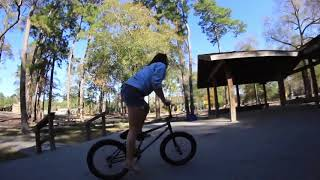 Funny Girl Fail BMX Bike