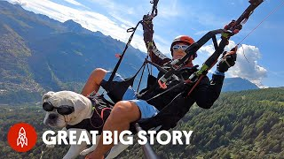 When You Live in the Swiss Alps, You Can Paraglide to Work