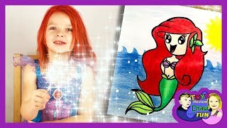 How to Draw Ariel from Disney Little Mermaid Easy with Nicola