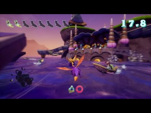 Spyro 2: Ripto's Rage! (Reignited Trilogy) - Ocean Speedway (flight walkthrough)