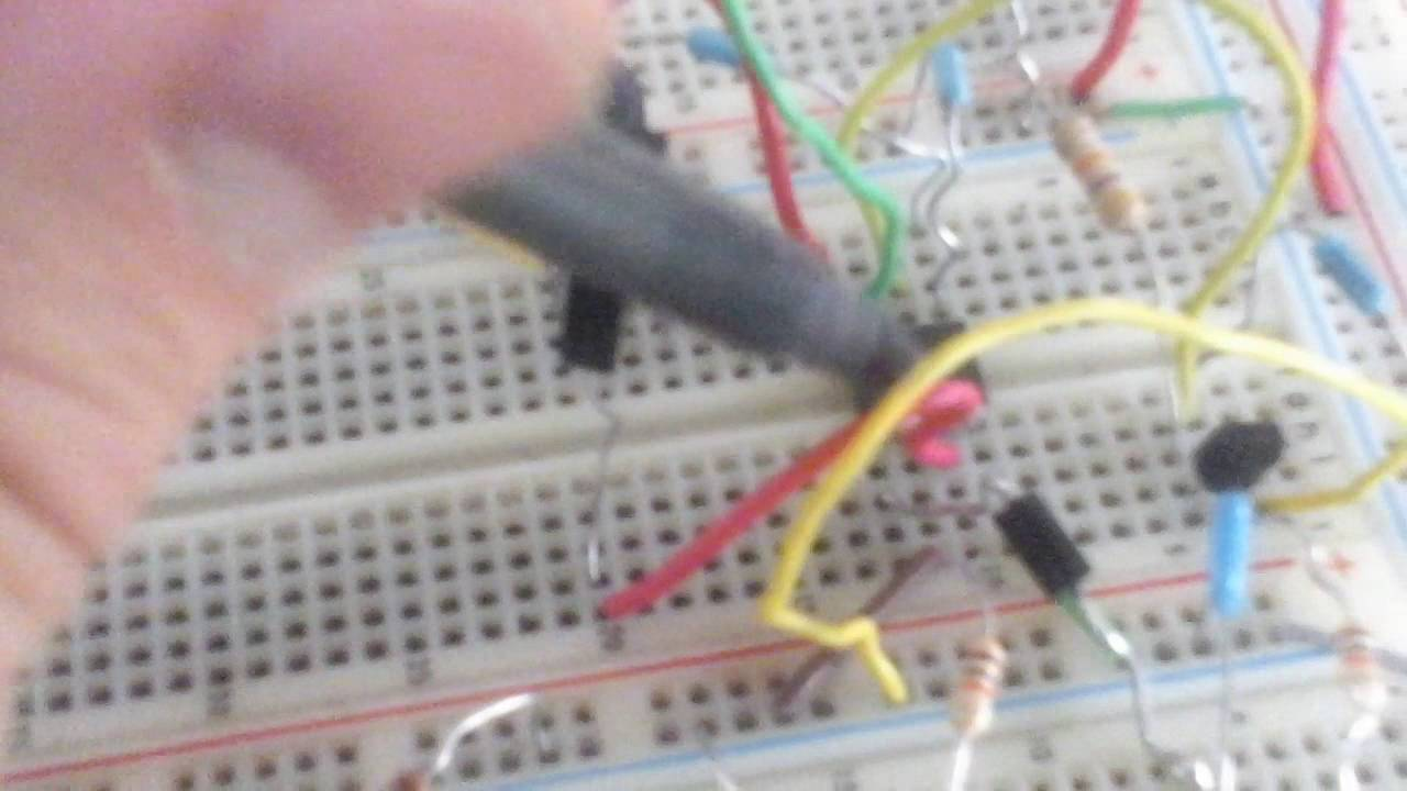 Metal Detector Build On A Breadboard Youtube Circuit Diagram