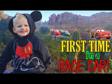 Michael's First FAST RIDE at Disneyland!!