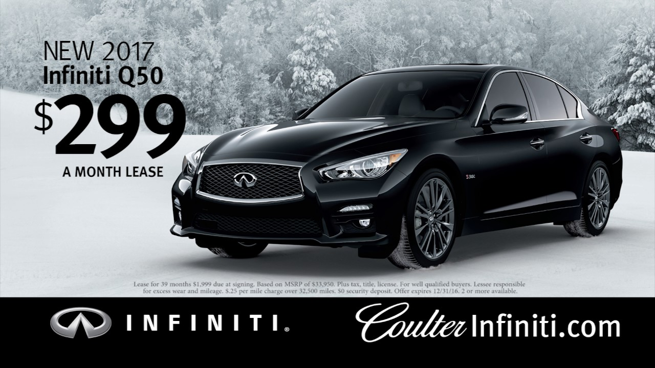 lease a 2017 infiniti q50 for 299 a month youtube. Black Bedroom Furniture Sets. Home Design Ideas