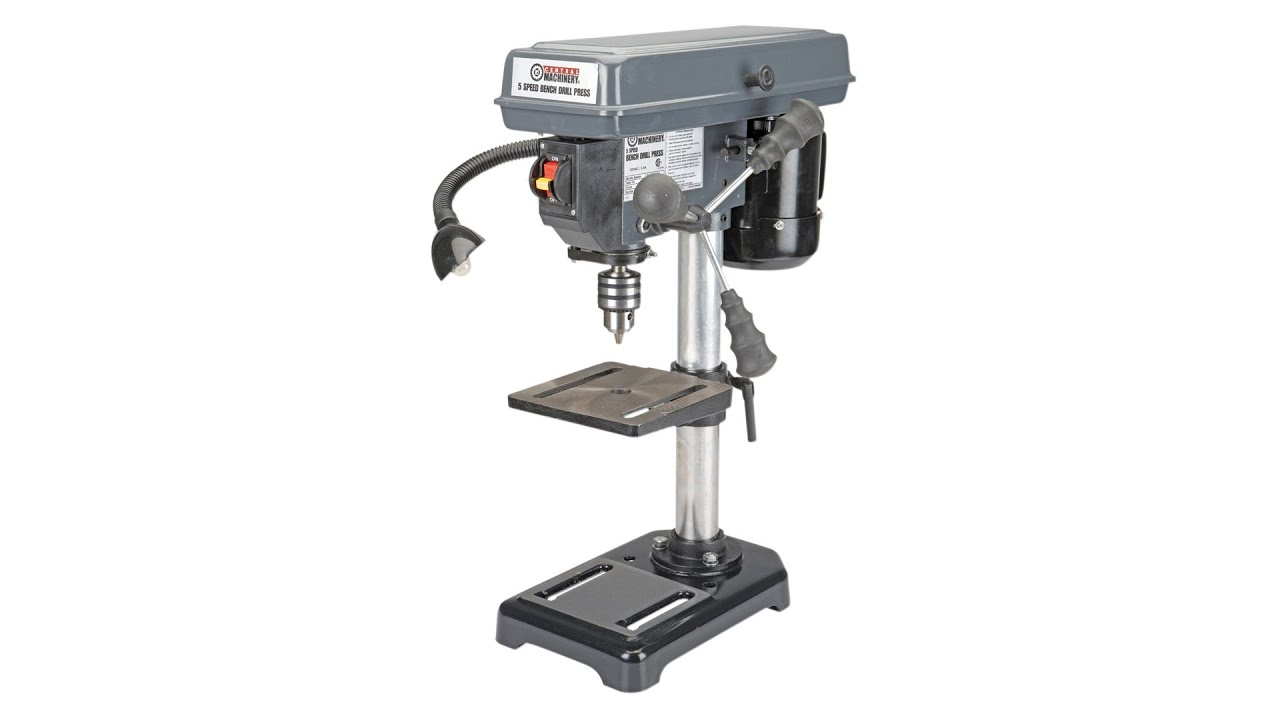 Central Machinery 8 Inch 5 Speed Bench Drill Press Unbox