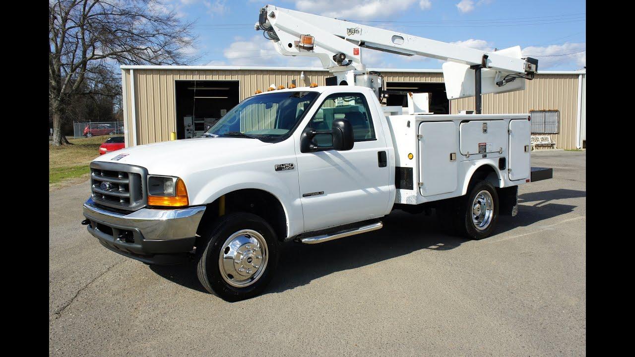 2000 ford f 450 bucket truck 7 3 powerstroke diesel youtube. Black Bedroom Furniture Sets. Home Design Ideas