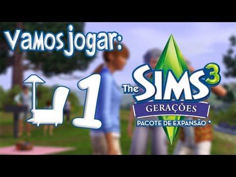 The Sims 3 Generations (Gerações) Gameplay: Roupas e Explicação Rápida Ep.1