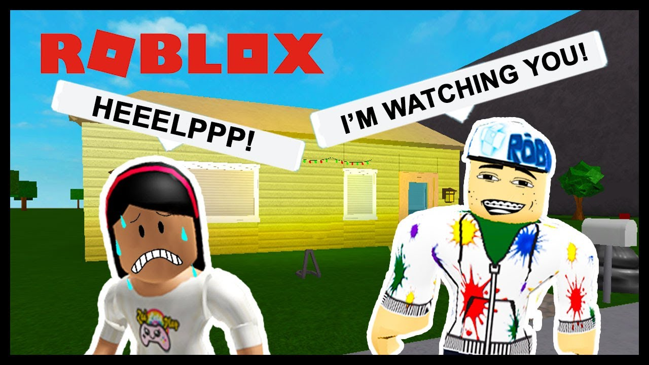Hacking My Creepy Stakler Roblox Youtube Gaming My Creepy Neighbor Is Trying To Kill Me Roblox Youtube