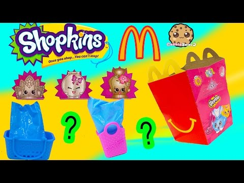 Ultra Rare Mcdonalds Fast Food Happy Meals Exclusive Shopkins Surprise Mystery Blind Bags Video
