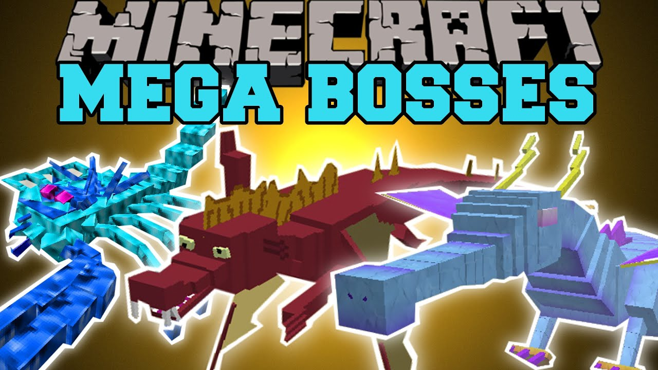 minecraft mega bosses you will not survive mod showcase