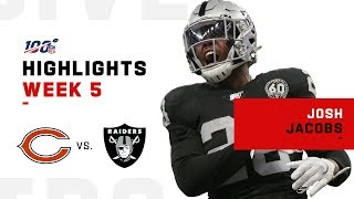 Josh Jacobs' 1st London Game was a Gem 💎 | 2019 NFL Highlights