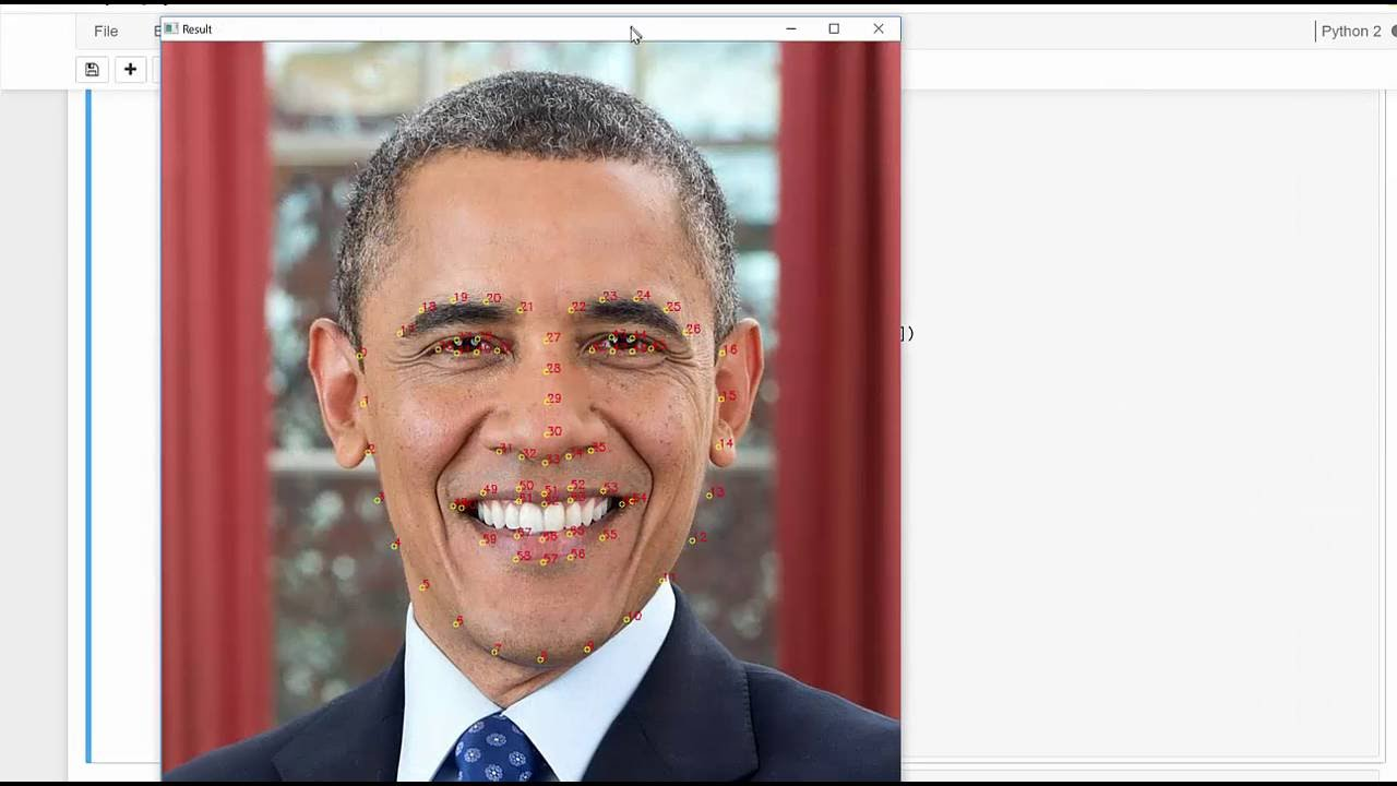 Python Computer Vision OpenCV - Find Face Landmarks using DLIB