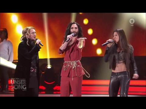 Conchita Wurst, Ruslana, Nicole - Satellite (Unser Song 2017, 9.02.2017)