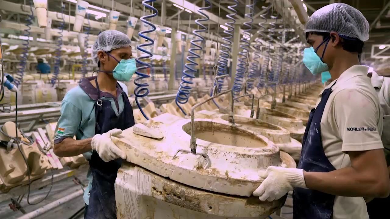 How Are Toilets Made - The Kohler India Vitreous Plant at Jhagadia ...