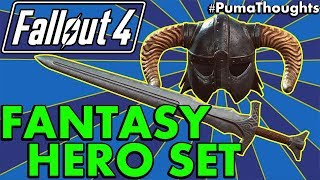 Fallout 4 Creation Club: Skyrim Fantasy Hero Set Review (Steel Sword and Iron Helmet) #PumaThoughts