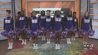 Ben Davis HS cheerleaders perform on Daybreak
