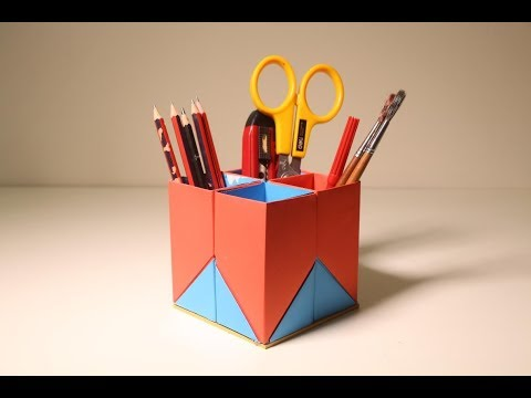 useful-paper-pen-stand-ideas-at-home-|-useful-life-hacks