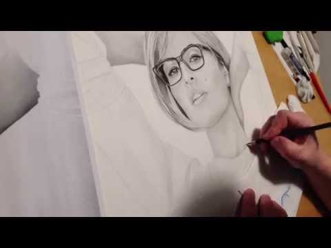 Eva Mendes Speeddrawing Time Lapse Zeitraffer Pencil Drawing Bleistift Zeichnen Art by Sauer