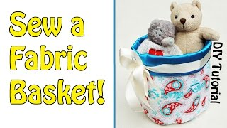 Diy | Fabric Basket Tutorial | Sewing For Beginners