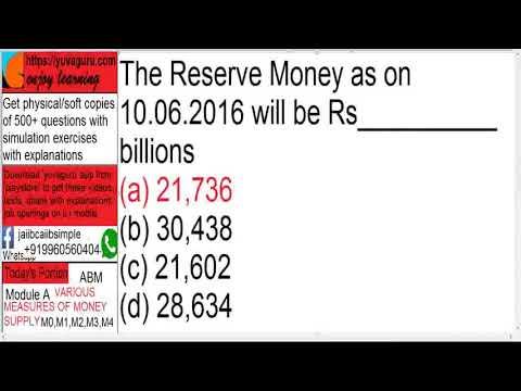 CAIIB ABM Mod A Money Supply Case Study M0 M1 M2 M3 M4 by Vishal Mantri +919960560404 free