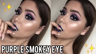 Purple Smokey Eye Makeup Tutorial   Daisy Marquez