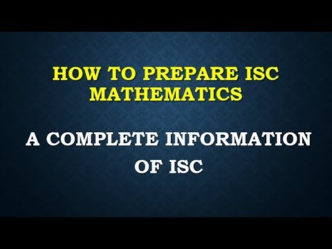 ISC MATHEMATICS CLASS 12 XII 2017 PART 1 COMPLETE SOLUTION NOTES LECTURE SERIES ONLINE CLASSES