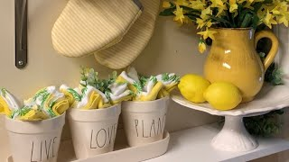 SPRING DECOR SHELVES | DECORATE WITH ME | SPRING DECORATING | Rae Dunn Decor | Episode 5
