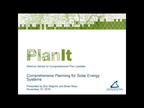 PlanIt: Comprehensive Planning for Solar Energy Systems Webi