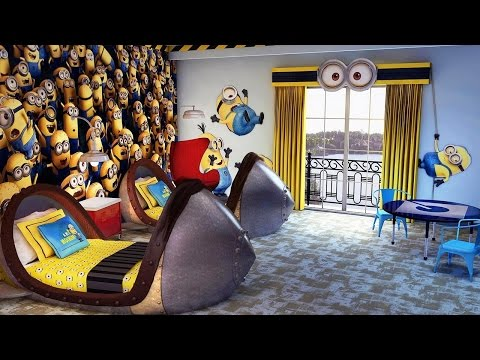 Top3 Minion Hotel Rooms In The World  Despicable Me Kids' Suites