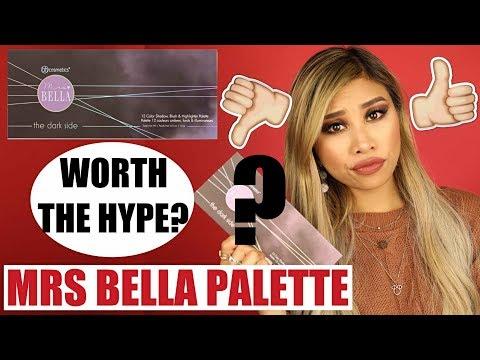 WORTH THE HYPE?! MRS BELLA BH COSMETICS DARK SIDE PALETTE & PINSELSET LIVE TEST l Kisus BeautyNews